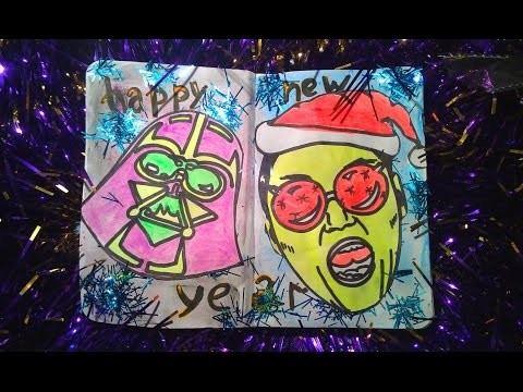 DIY Sketchbook.Artbook Happy New Year! PSY – DADDY.Star Wars - Darth Vader art.Разворот в ЛД.