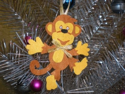 Обезьянка. Игрушка из фетра. DIY Happy New Year. Christmas holiday. Monkey toy made of felt