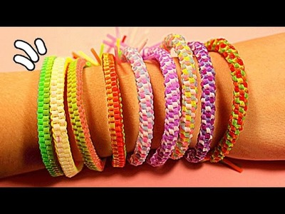 DIY ЯРКИЕ БРАСЛЕТЫ Своими Руками * How to Make Bracelets Scooby-Doo of tubes