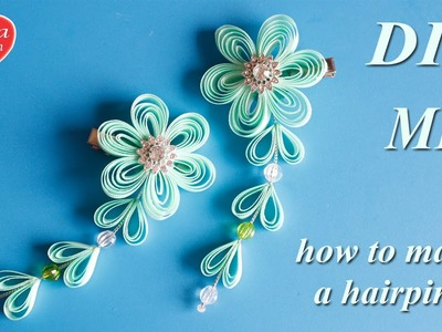 Заколки Сидаре из Узкой Ленты. МК. how to make a hairpin