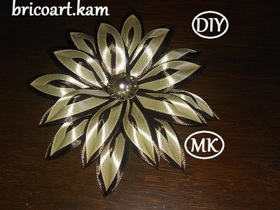 DIY.MK.Tutorial.Kanzashi ribbon flower.Flor de cinta.канзаши :bricoart.kam