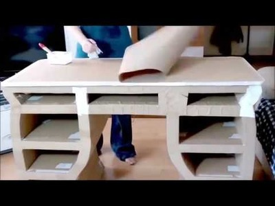 How to make a cardboard drawer DIY furniture