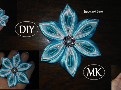 DIY.Howto.Kanzashi flower.Ribbon flower.Flor de cinta.MK.Цветы из лент.канзаши: bricoart.kam