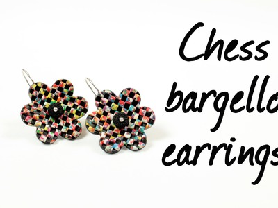 Chess bargello ∗ Шахматное барджелло ∗ Polymer clay tutorial ∗ Мастер-класс
