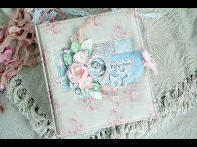 Альбом для девочки. Shabby chic style. Album for baby girl. Paper Maja Design Vintage Baby