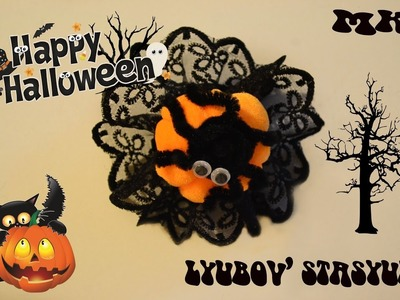 "The Hairpin ""Happy Halloween"".Tutorial kanzashi. D.I.Y"
