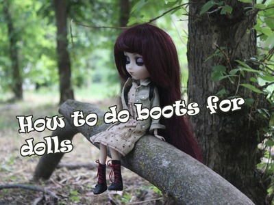 МК: ботинки для кукол Pullip ^_^| How to do boots for dolls Pullip
