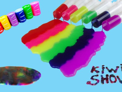 Радуга из лизунов Barrel o Slime. How to make jelly rainbow