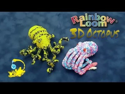 Rainbow Loom 3D Octopus Head (осьминог, pulpo, poulpe, たこ)