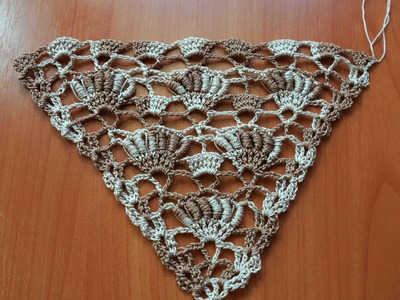 Для левшей  Узор для бактуса, шали (crochet pattern for left hand)