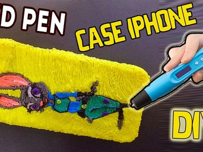 3D ручка рисуем чехол для IPHONE(зверополис). speed drawing case for IPHONE(zootopia)
