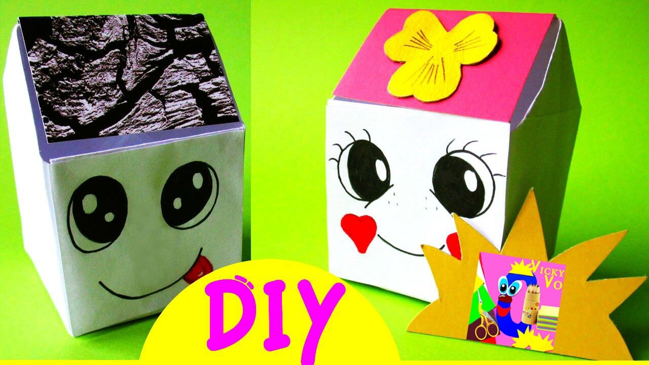 Tall Origami PullOut Drawers Tutorial  DIY  Paper Kawaii