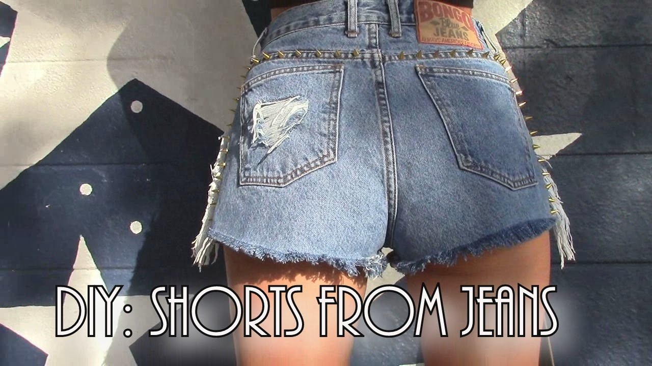 Diy shorts from jeans