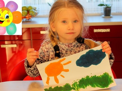 DIY КАК сделать ОБЪЕМНЫЕ краски.Просто и быстро.HOW to MAKE FINGER PAINTS with their hands at home
