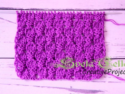 Lace knitting stitch.Knitted Instructions.Ажурный узор спицами.Схема