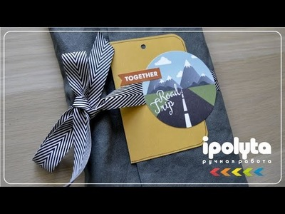 """LET'S GO"" Scrapbooking travel book. Скрапбукинг"