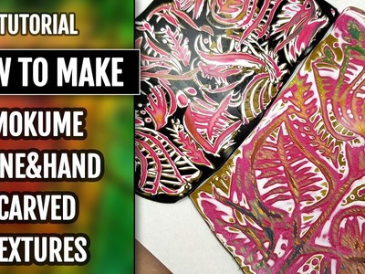 Bright Mokume Gane made by using Hand Carved Textures