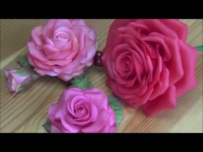 "Red cold porcelain rose. Tutorial 1 ""Home-made and available tools"""