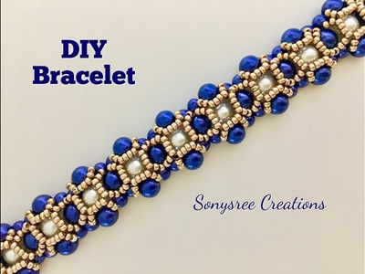 Party wear Beaded Bracelet. Pulsera con cuentas. Браслет из бисера