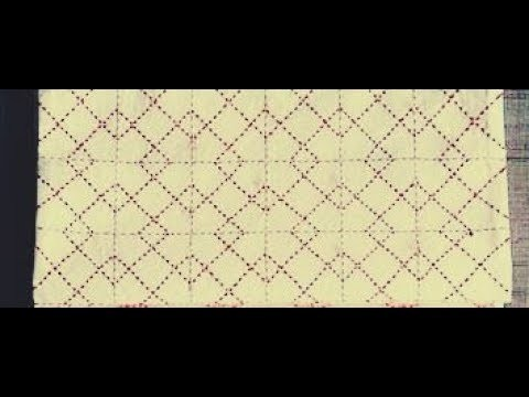 Sashiko Embroidery. Quilt Design Tutorial-- 2- For Very Beginners