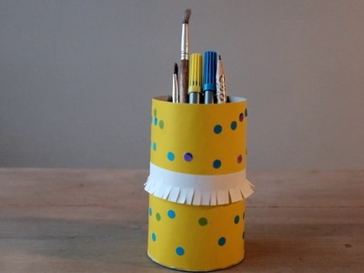 How to make pencil holder DIY