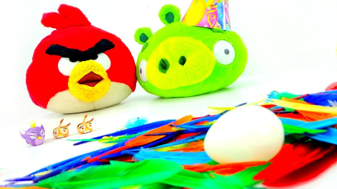 Funny videos with toys. Birds & pigs.