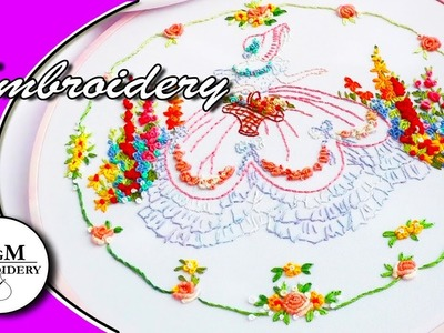 EMBROIDERY: CRINOLINE LADY \ ВЫШИВКА: ДАМСКИЙ САД