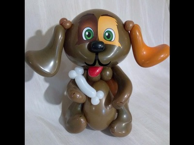 Щенок, символ 2018 года. Puppy from balloons.