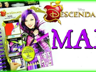 Disney DESCENDANTS MAL SKETCH-TO-GO FASHION BOOK!