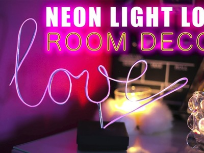 ДЕКОР КОМНАТЫ * DIY ROOM DECOR * DIY NEON LIGHTS