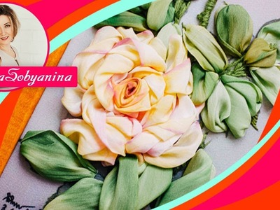????РОЗА мастер класс по вышивке лентами Часть 2 ❗❗. How to embroider a rose with ribbons 2p