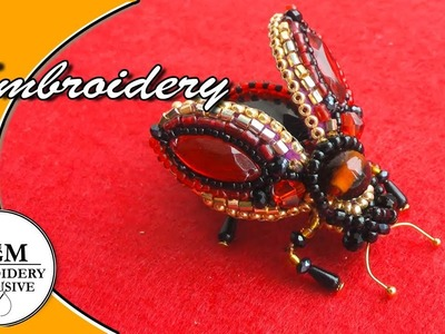 Hand Embroidery| Brooch Fly| Beetly | Вышивка  Брошь: Муха. Жук