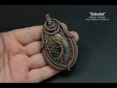 Handmade Tree of Life wire   wrapped pendants