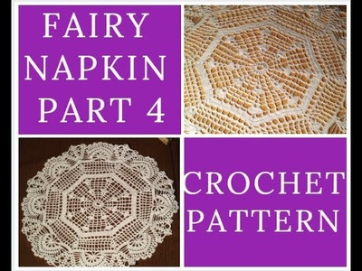 Crochet Fairy Napkin Part4 Tutorial VERY EASY Сказочная салфетка Ч4