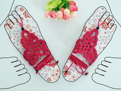 ♥ Создаем шаблон для босых сандалий ♥ Base for barefoot sandals ♥ Crochetka design studio