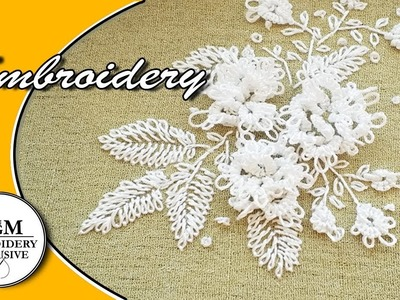 Embroidery: Needle Tatting For Beginners | Вышивка :Фриволите иглой