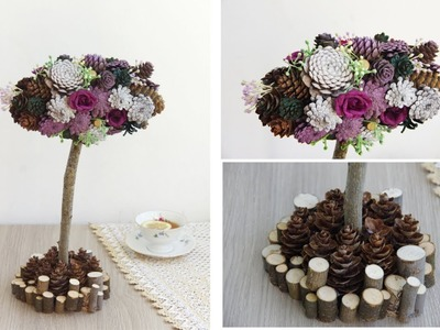 DIY Топиарий Topiary Tree, Wedding Topiary Tree,  Rose Tree, Table Decoration