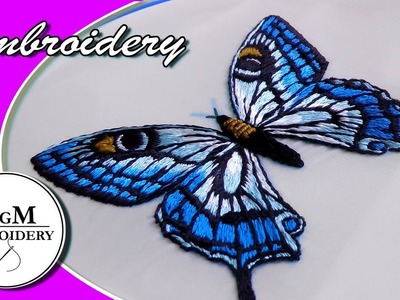 Hand Embroidery: Butterfly ???? | Вышивка: бабочка????