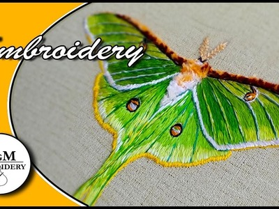 Hand embroidery design  Butterfly || Вышивка: Бабочка ????