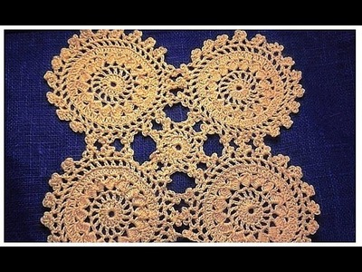Motif crochet  Pattern VERY EASY tutorial for  doily Мотив крючком