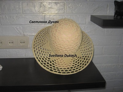 Chapéu de Crochê ???? Summer HAT CROCHET pattern ???? HOW to crochet beautiful SUN HAT for little girl