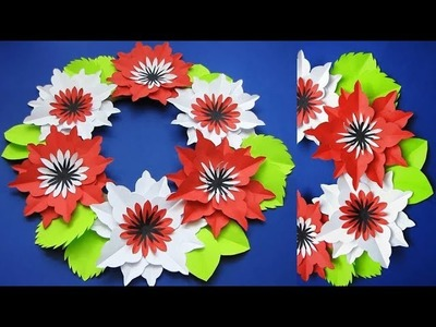 DIY. Simple Home Decor. Wall, Door Decoration. Цветы из бумаги. Paper Craft Ideas #l2