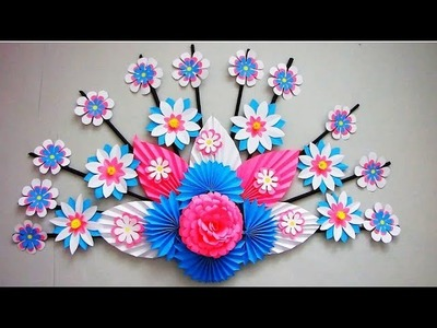 DIY. Simple Home Decor. Wall, Door Decoration. Цветы из бумаги. Paper Craft Ideas # 6