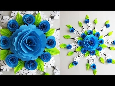DIY. Simple Home Decor. PAPER & Newspaper Craft Idea. Wall, Door Decoration. Цветы из бумаги. 18
