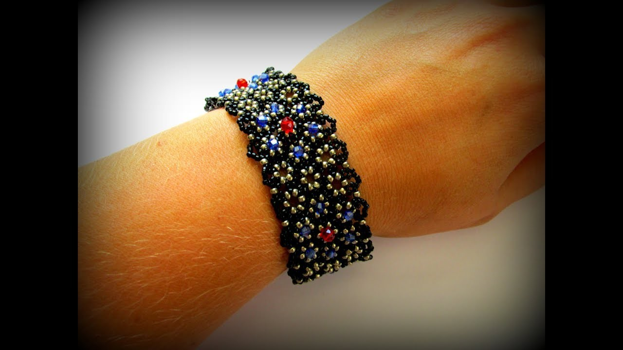 Браслет из бисера. Bracelet ! How to make bracelets ! Bracelet Tutorial !
