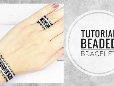 #МК - Браслет с бисером Half Tila | #Tutorial - Bracelet with beads Half Tila
