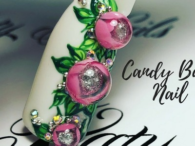 Nail Tutorial: Candy Ball Nail. Bubble Flower 3D | Новый дизайн ногтей Candy Ball ????