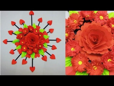 DIY. Simple Home Decor. Wall, Door Decoration. Цветы из бумаги. Paper Craft Ideas # 16