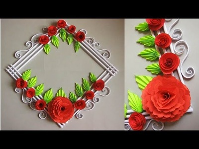 DIY. Simple Home Decor. Wall, Door Decoration. Цветы из бумаги. Paper Craft Ideas # 14