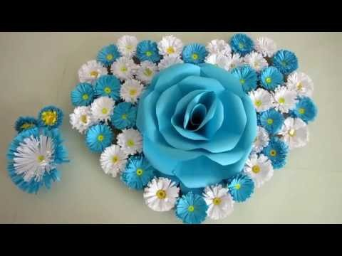 DIY. Simple Home Decor. Wall, Door Decoration. Hanging Flower 94. цветы из бумаги. Paper Craft Ideas